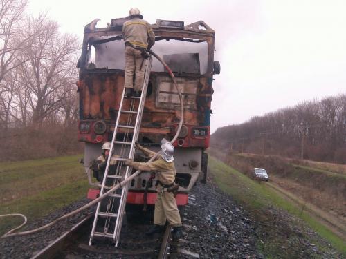 На Золотоніщині горів потяг Київ-Одеса