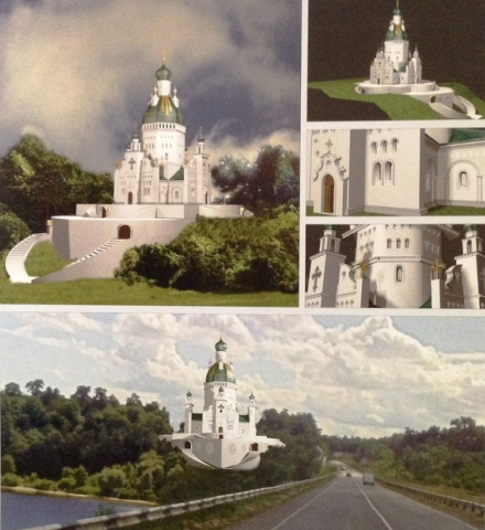 При в'їзді до Черкас постане храм-фортеця