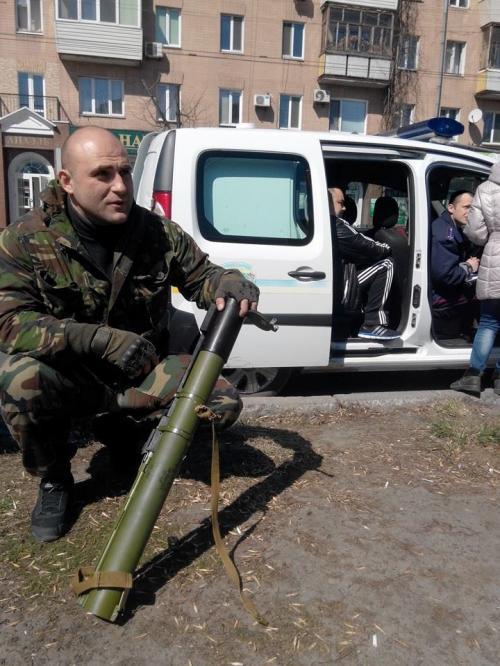 У Черкасах затримали чоловіка з ручним протитанковим гранатометом