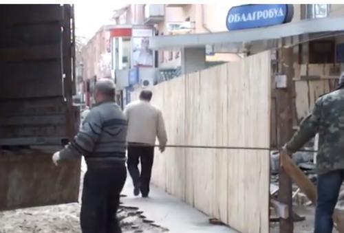 Бульвар Шевченка перетворюється на будівельний майданчик (ВІДЕО)