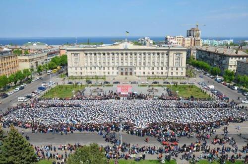 Як у Черкасах три тисячі людей одночасно віджималися (ВІДЕО)