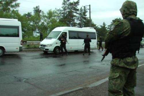 На дамбі затримали підозрілих чоловіків у чорній формі (ФОТО)