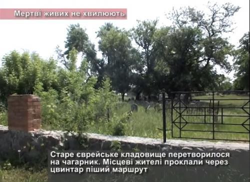 Єврейське кладовище у Черкасах перетворилося на чагарник (ВІДЕО)