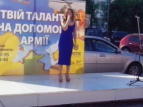 Черкащани у центрі міста співали у пам'ять про Кузьму (ФОТО, ВІДЕО)
