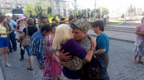 У Черкасах зустріли демобілізованих бійців АТО