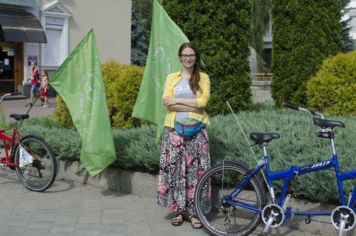 Незрячі люди на велосипедах приїхали зі Львова до Черкас