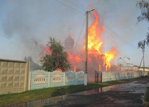 На Черкащині згоріла стародавня церква (ФОТО)