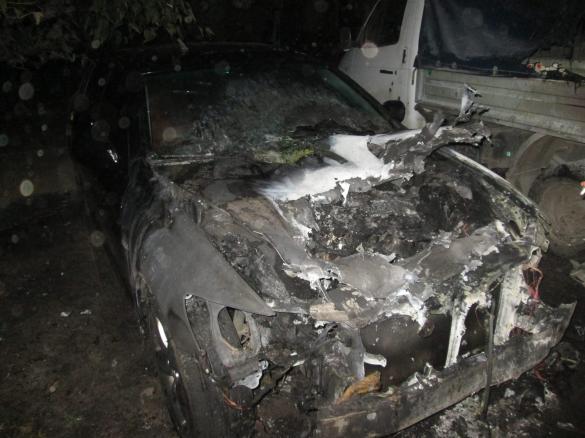 У Черкасах вночі горів автомобіль (ФОТО)