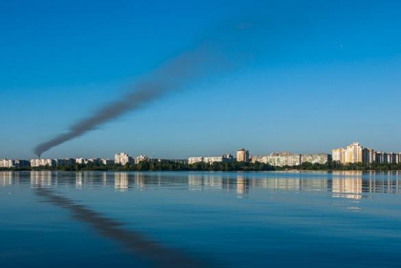 Неймовірний погляд на Черкаси зі сторони острова (ФОТО)