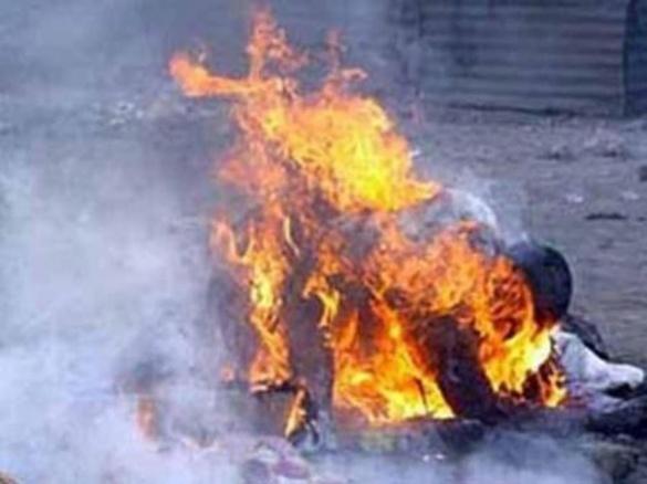 Житель Городища підпалив себе у центрі міста