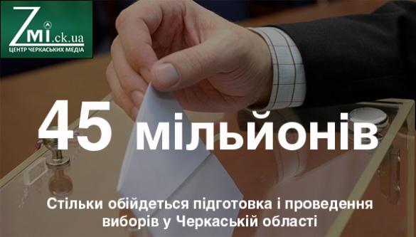 Стало відомо у скільки обійдуться вибори на Черкащині