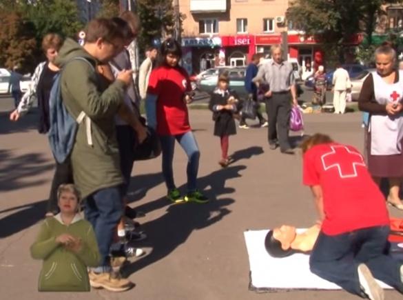 Професіонали вчили черкащан правильно рятувати людей (ВІДЕО)