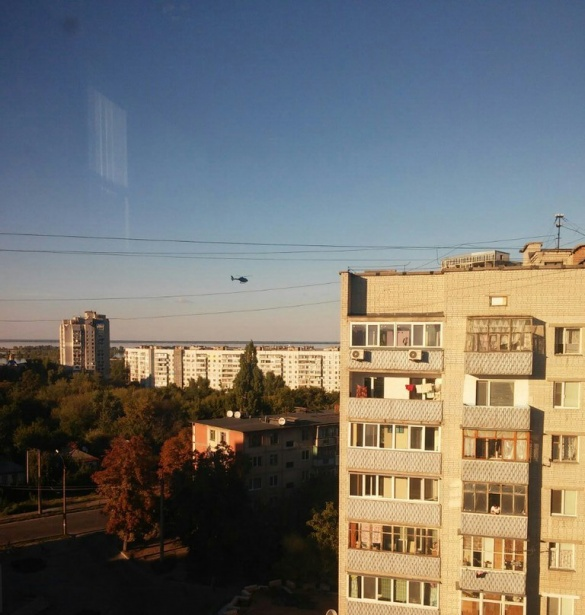 Черкащани запримітили в місті вертоліт (ФОТО)