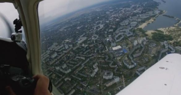 Авіатори відзняли політ над Черкасами з борту літака (ВІДЕО)