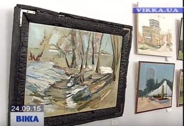 Художник зобразив черкаські краєвиди на полотні (ВІДЕО)