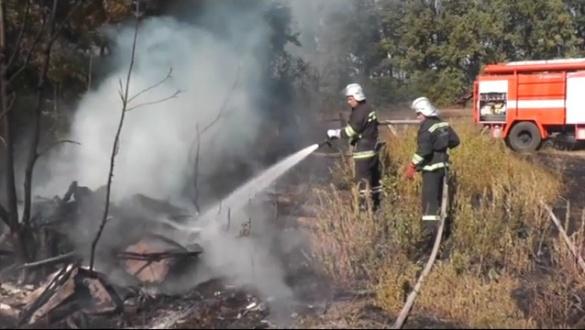 На Черкащині через господаря мало трагічно не згорів будинок (ВІДЕО)
