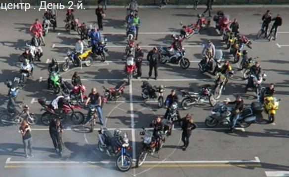 Як у Черкасах із мотоциклів тризуб створили (ВІДЕО)