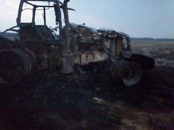 На Черкащині згорів трактор, вартістю майже 2 млн. гривень