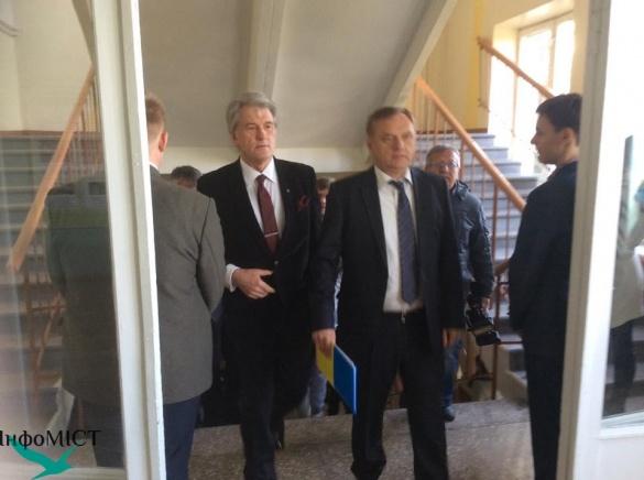 У Черкасах побував колишній президент України