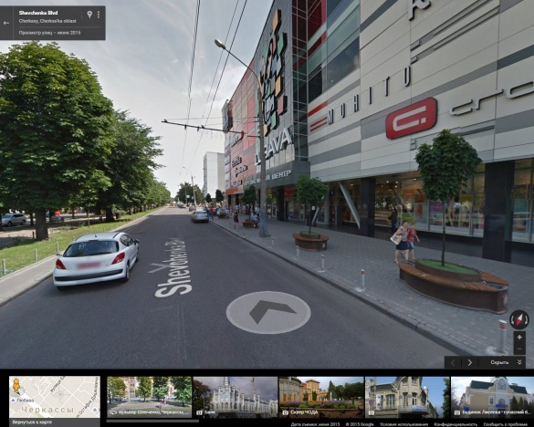 На картах Google з'явилась панорама Черкас (ФОТО)