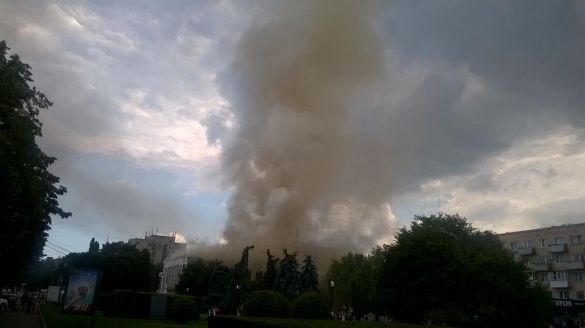 Черкаський театр згорів через підпал?
