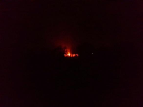 У Черкасах палало приміщення закинутої військової частини