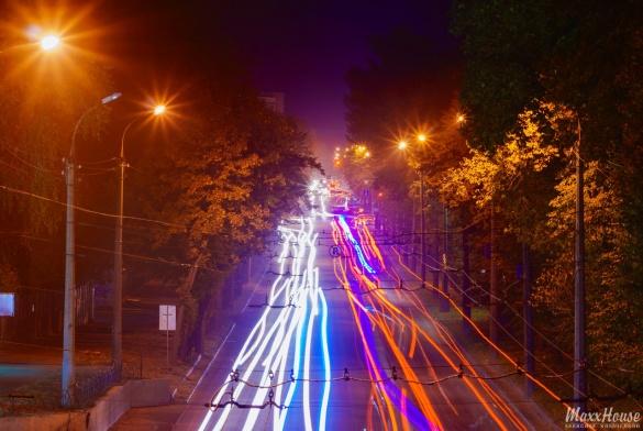 У мережі з'явилися нові фото нічних Черкас