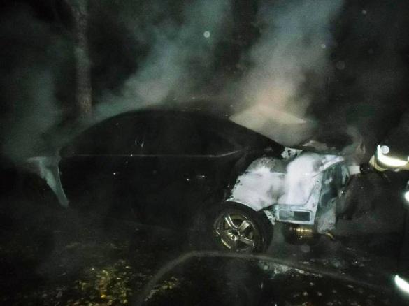 На Черкащині поблизу лікарні загорівся автомобіль (ВІДЕО)