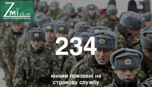 На Черкащині проходити строкову службу набралось понад 200 новобранців