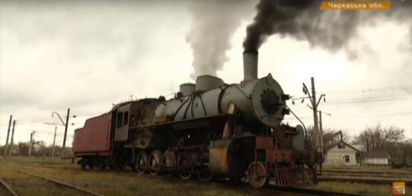 Американський паровоз часів війни відремонтували черкаські умільці