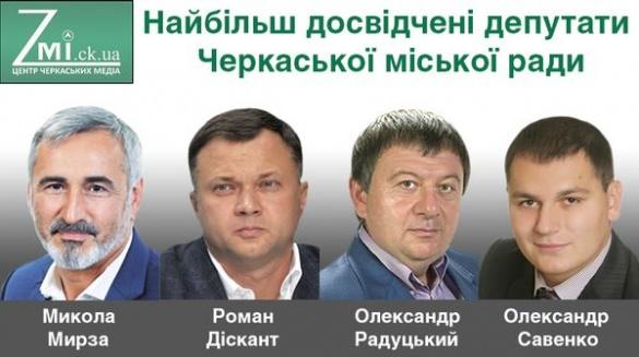 Хто із депутатів Черкаської міської ради найбільш досвідчений?