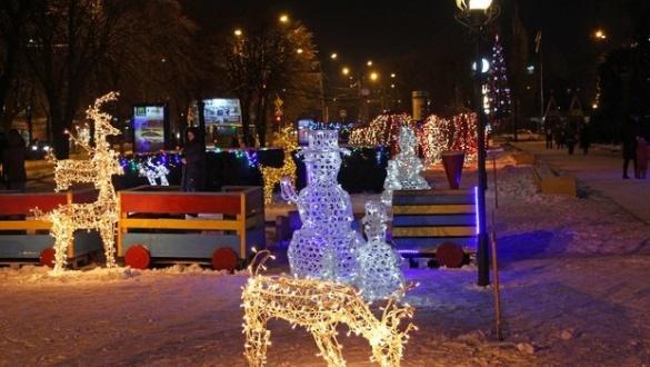 У черкаському сквері з'являться сніговики та олені