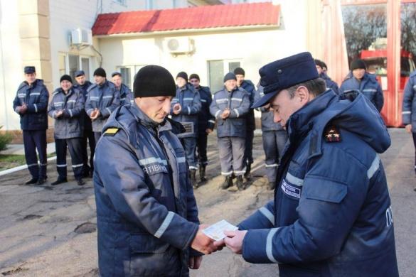 У Черкасах відзначили рятувальників, які повернулися зі Сходу