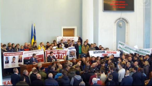 Голова Городищенської РДА до мітингувальників: