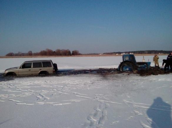 В Черкаській області під лід