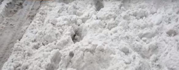 Черкащани обурені сніговими заметами зупинок і тротуарів (ВІДЕО)
