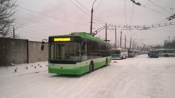 У Черкасах зламалися нові тролейбуси