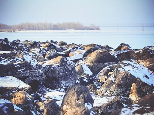 Черкащанка у світлинах показала красу зимового Дніпра