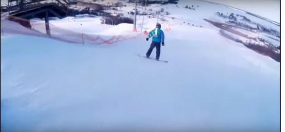Як в Черкаській області на лижному курорті розважаються екстремали (ВІДЕО)