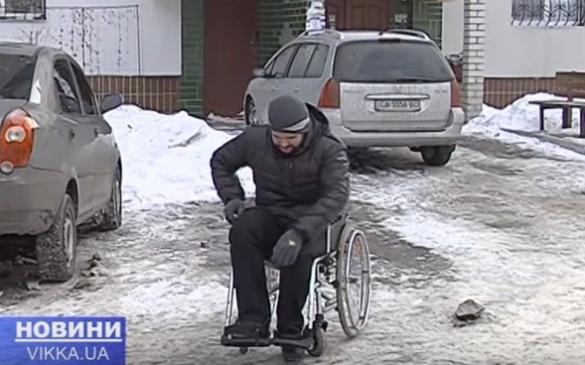 Черкаський депутат на собі відчув усі труднощі пересування на візку