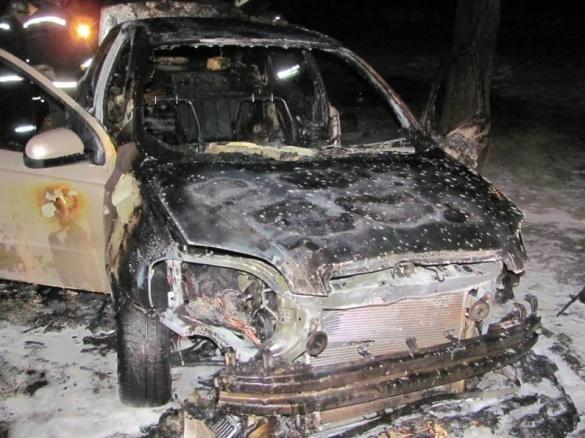 У Черкасах вночі мало не згорів автомобіль (ВІДЕО)