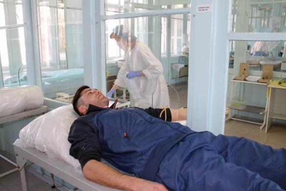 Черкаські футболісти стали донорами крові (фотофакт)