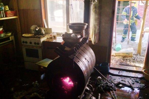 У пожежі на Черкащині постраждала людина (ВІДЕО)