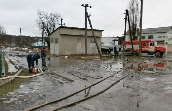 На Черкащині ледь не підтопило трансформаторну підстанцію