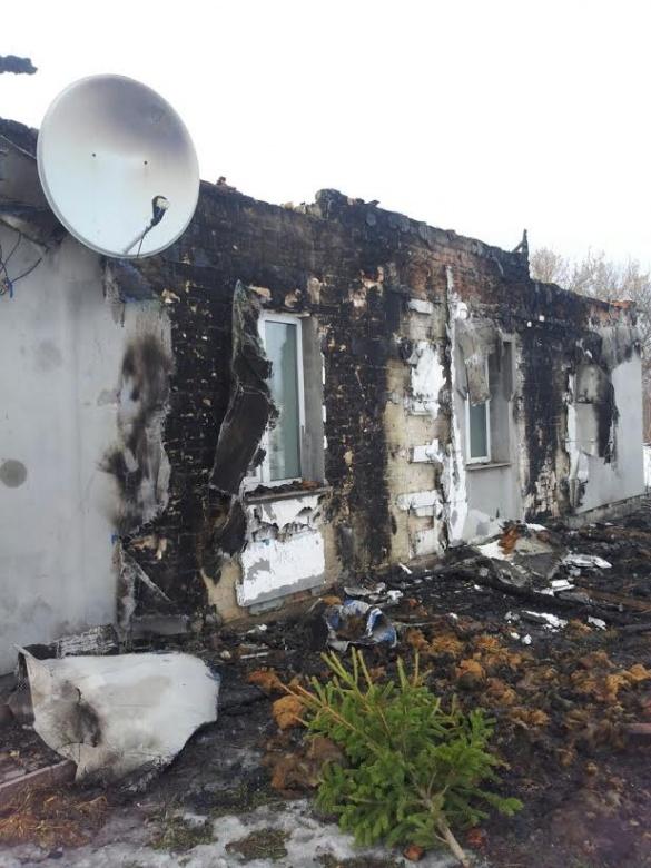 На Черкащині у родини бійця АТО згорів будинок