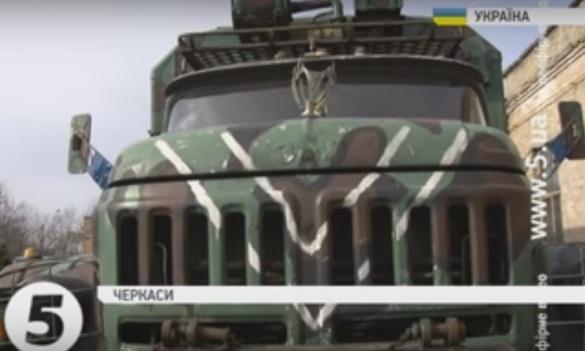 Черкащани переобладнали машину на лазню для танкістів