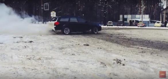 Черкаські водії показали свої екстремальні зимові розваги (ВІДЕО)