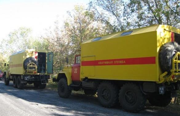 На Черкащині з траси злетіла вантажівка із газовою цистерною