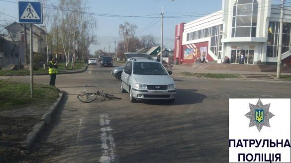ДТП у Черкасах: автівка збила велосипедиста (ФОТО)