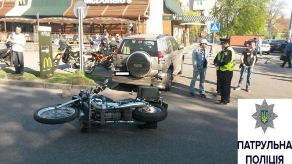 У Черкасах мажор на Land Cruiser збив мотоцикліста (ФОТО)